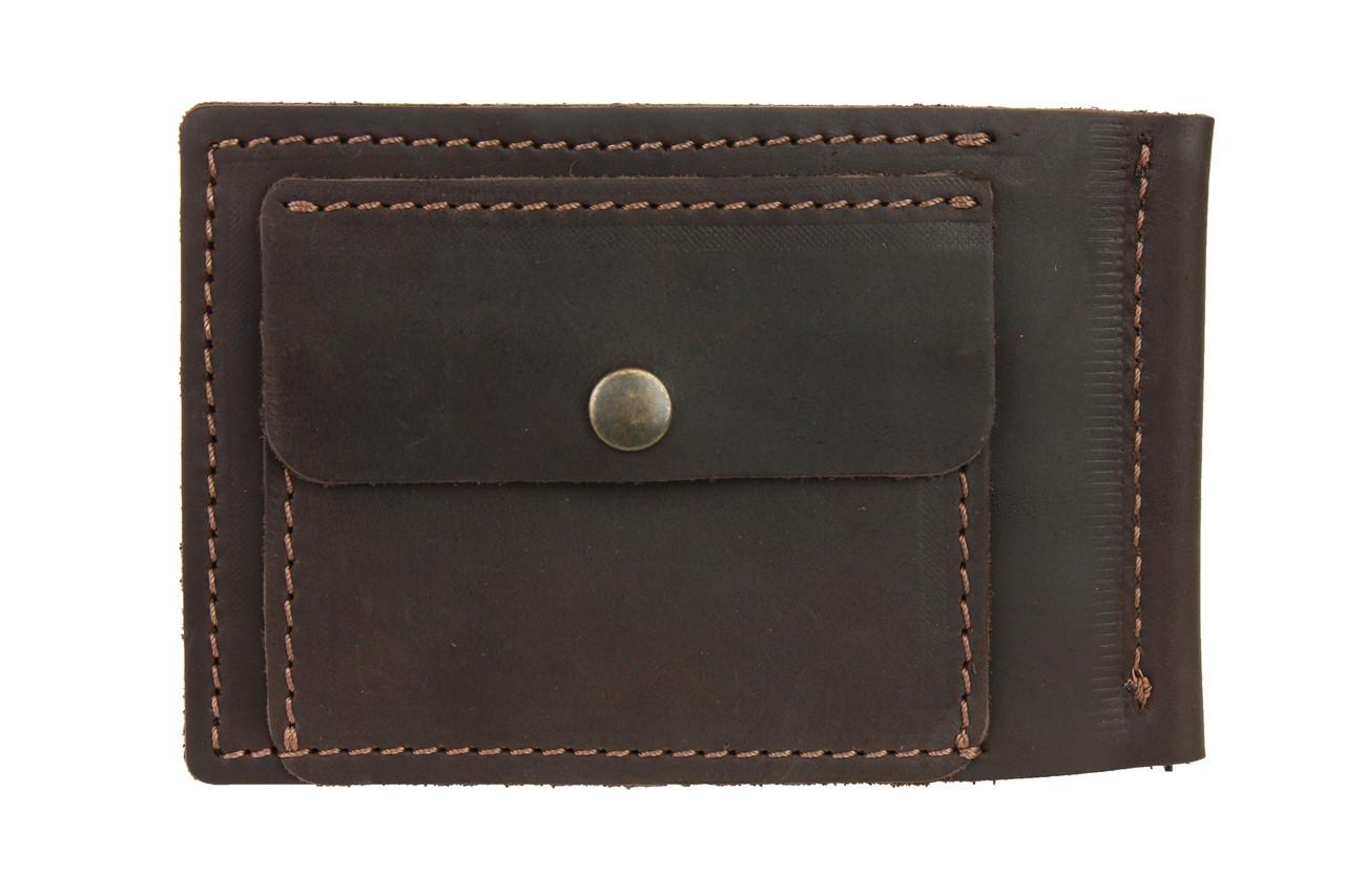 Кошелек мужской кожаный зажим для купюр SULLIVAN kmzdk5(5.5) коричневый