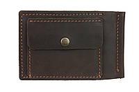 Кошелек мужской кожаный зажим для купюр SULLIVAN kmzdk5(5.5) коричневый, фото 1