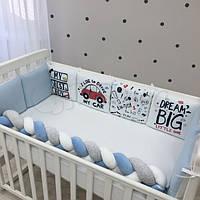 Бортики в детскую кроватку Art Design Машинки ТМ «Маленькая Соня»