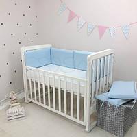 Бортики в детскую кроватку NICE голубой ТМ «Маленькая Соня»