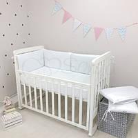 Бортики в детскую кроватку NICE белый ТМ «Маленькая Соня»