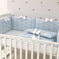 Бортики в детскую кроватку Happy Baby мальчик ТМ «Маленькая Соня»