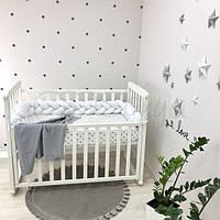 Бортик-коса в детскую кроватку белый ТМ «Маленькая Соня»