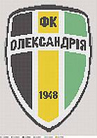 Схема для вишивки бісером за мотивами лого ФК Олександрія