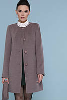 Пальто прямого силуэта, без воротника 42, 44, 46
