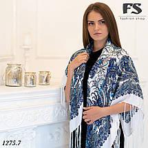 Павлопосадский белый платок  Изысканная, фото 3