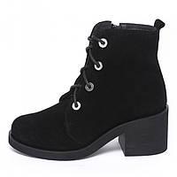Зимние женские ботинки из натуральной замши