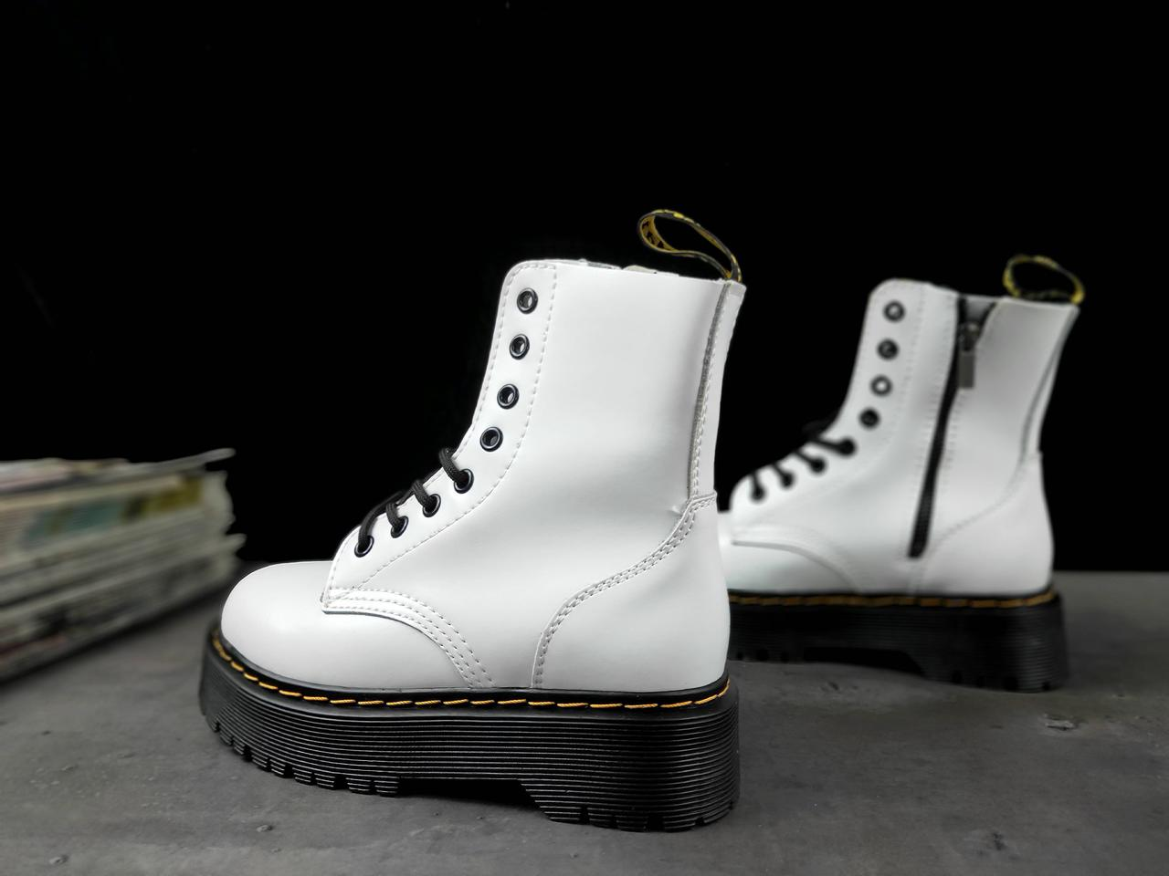 Женские Ботинки Dr. Martens White High sole (реплика)