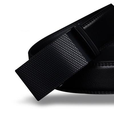 Мужской Ремень Кожаный с Автоматической Пряжкой Пояс Cowather (CW015) Черный 110см