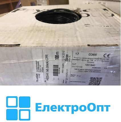 Провід мідний ПВ-3 H07V-K 1x6 мм2 PRYSMIAN чорний, фото 2