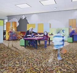 Ковролін флокіроване покриття Flotex Vision Image 000509 autumn leaves - green