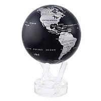 """Глобус самовращающийся Solar Globe Mova """"Политическая карта"""" 11,4 см серебристо-черный"""