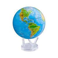 Глобус самовращающийся Solar Globe Mova Физическая карта