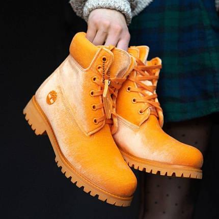 Женские демисезонные ботинки в стиле Timberland X OFF WHITE, фото 2