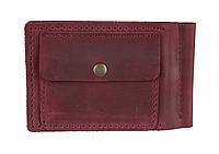 Кошелек женский кожаный зажим для купюр SULLIVAN kgzk4(5.5) марсала, фото 1