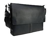 Сумка мужская для документов большая кожаная А4 SULLIVAN smg6(45) черная, фото 1