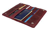 Кошелек женский кожаный большой под паспорт SULLIVAN kgb59(10) марсала, фото 1