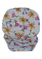 Чехол к стульчику для кормления Wonder Kids Цветы на молочном, фото 1