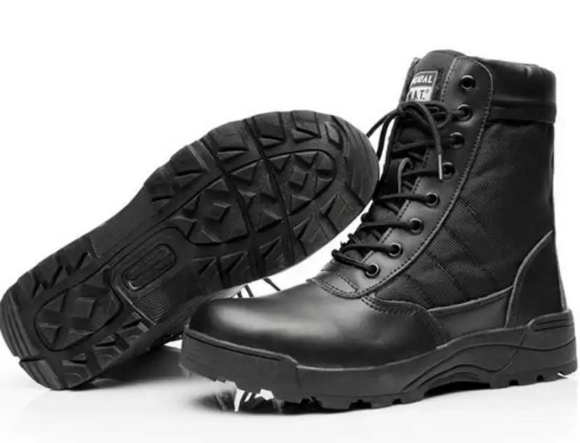 Чёрные тактические ботинки Берцы Swat classic 9.0