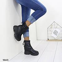 Ботинки женские демисезонные с 36 по 40 размеры  эко-кожа А18445