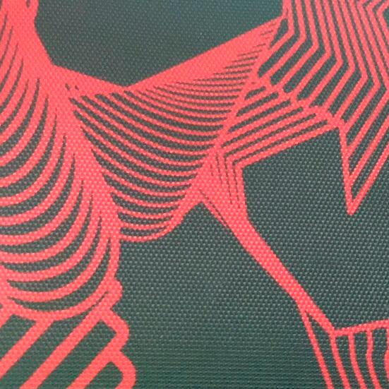 Ткань Дизайн 420D ПВХ ЛЮКС ДИАГРАММА Красный