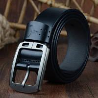 Мужской Кожаный Ремень Cowather (CW001) Черный 115см