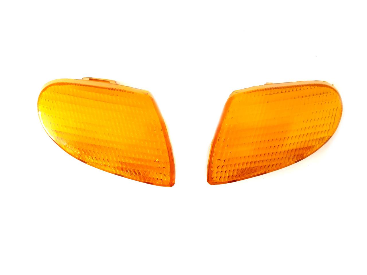 Стекла поворотов передние (пара) YAMAHA APRIO Желтые