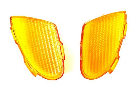 Стекла поворотов передние (пара) YAMAHA APRIO Желтые, фото 2