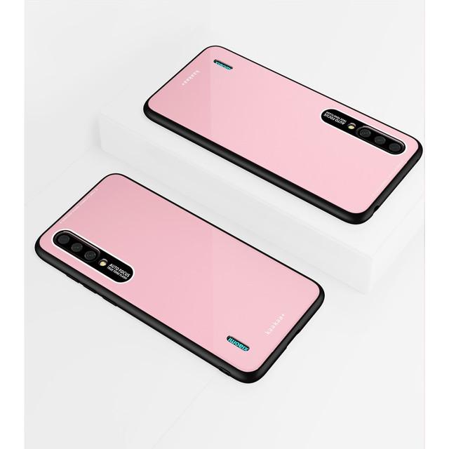 Xiaomi Mi A3 чехол накладка с акриловой поверхностью розовый