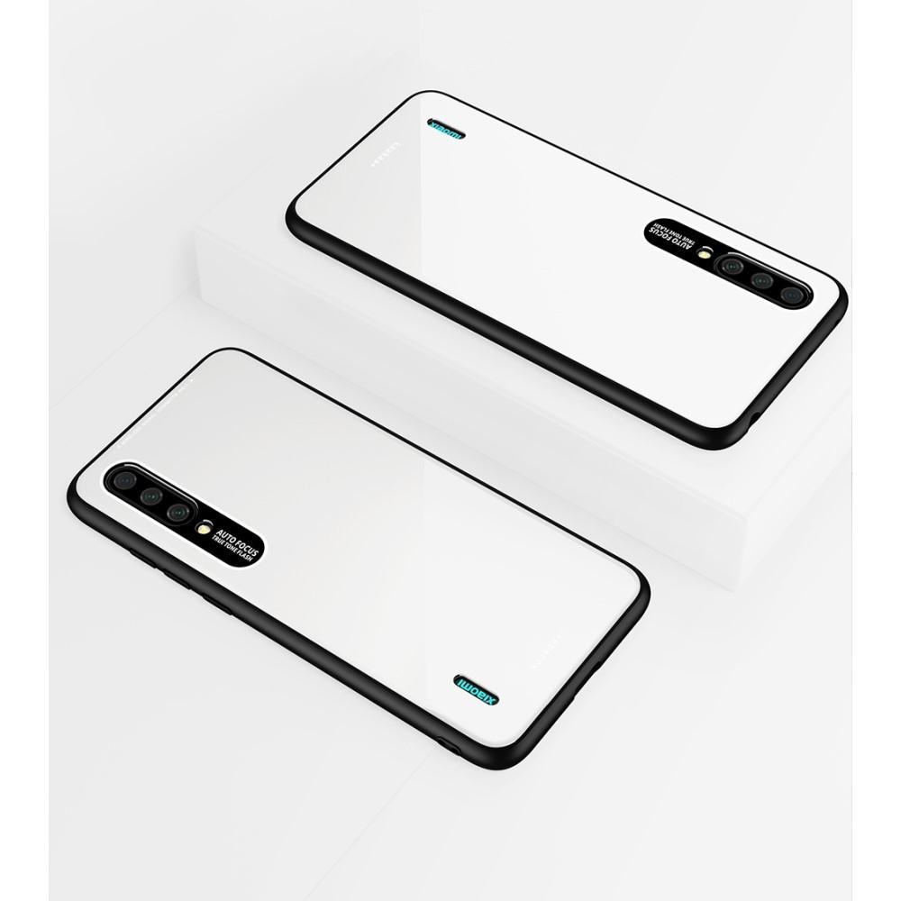 Чехол накладка для Xiaomi Mi A3 пластиковый с акриловой поверхностью, Laica Series, белый