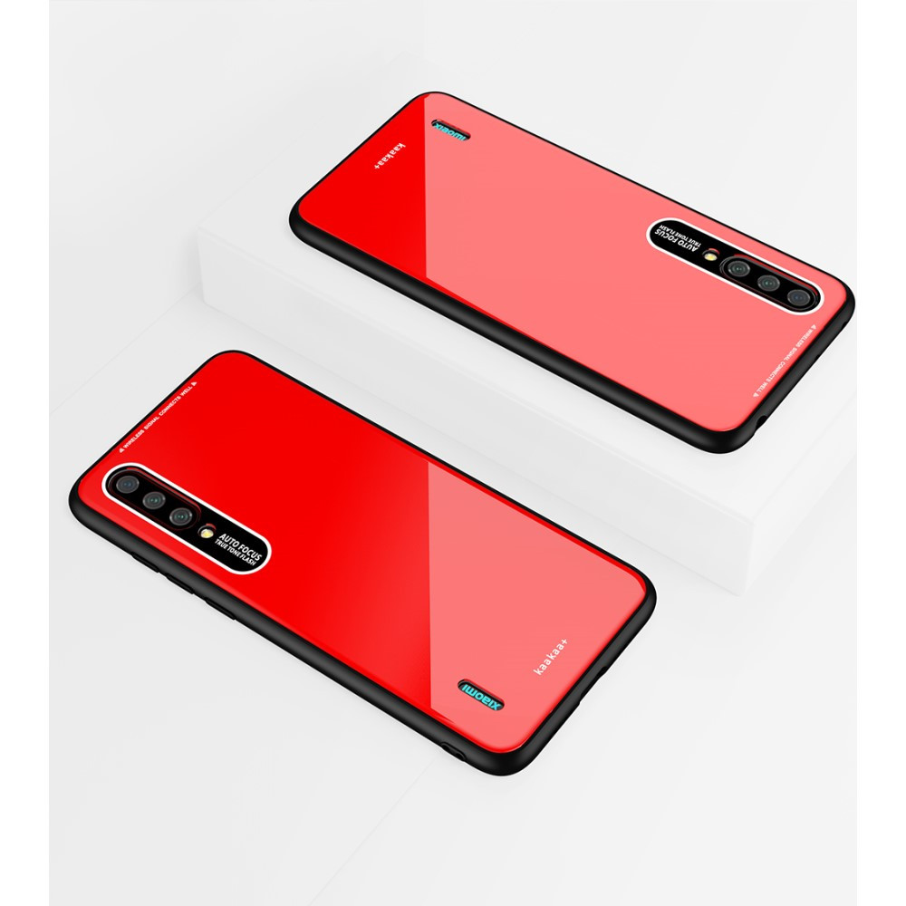Чехол накладка для Xiaomi Mi A3 пластиковый с акриловой поверхностью, Laica Series, красный