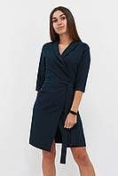 S   Коктейльне плаття на запах Alisa, темно-зелений