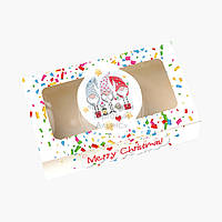 Упаковка для пряников с прозрачным окном - С Рождеством! №1 - 200х115х50 мм