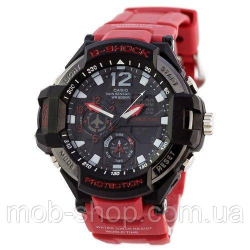 Наручные часы Casio G-Shock GA-1100 Black-Red Wristband