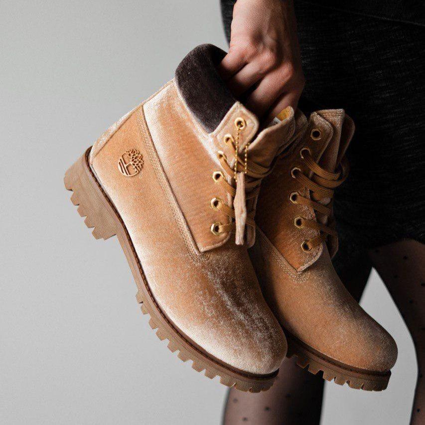 Женские демисезонные ботинки в стиле Timberland X OFF WHITE