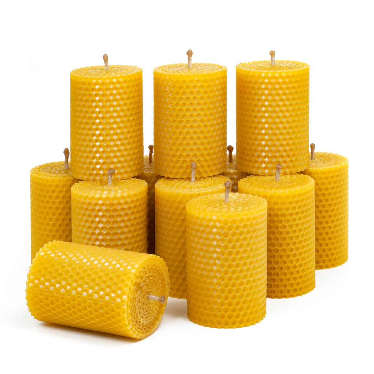 Набір з 12 свічок з вощини 8,5*6 см