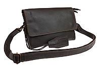 Сумка женская маленькая барсетка клатч SULLIVAN sg15(32) коричневая гладкая кожа, фото 1