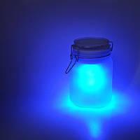 """Нічник """"Фея в баночці"""", блакитний, на сонячних батарей, фото 1"""