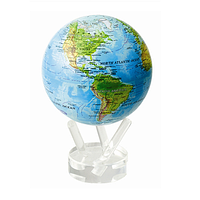 """Глобус самовращающийся Solar Globe Mova """"Физическая карта Мира"""" 11,4 см (MG-45-RBE)"""
