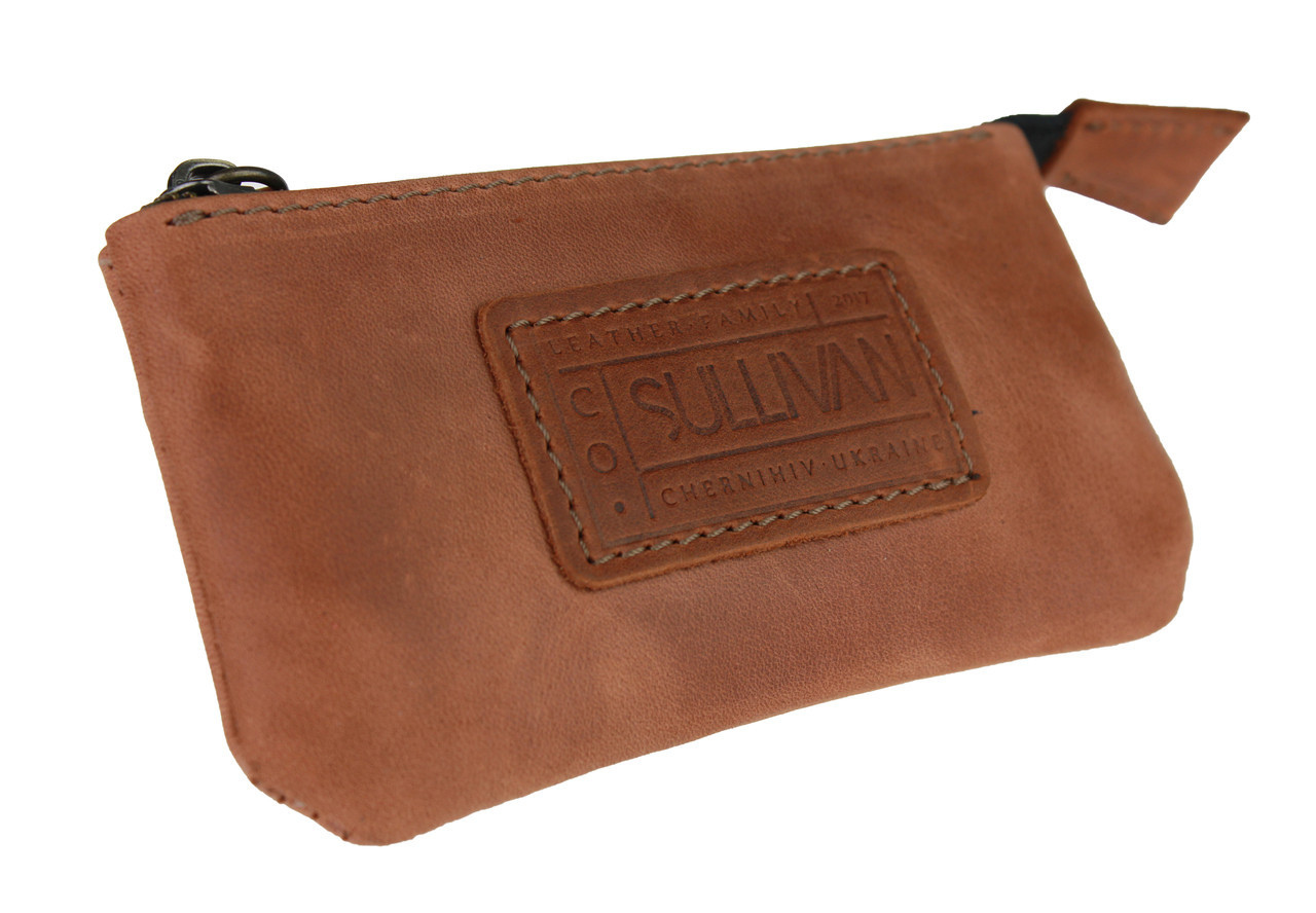 Ключница кожаная сумочка для ключей SULLIVAN k9(5.5) светло-коричневая