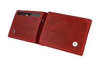 Кошелек женский кожаный зажим для купюр SULLIVAN kgzk1(5) красный, фото 1