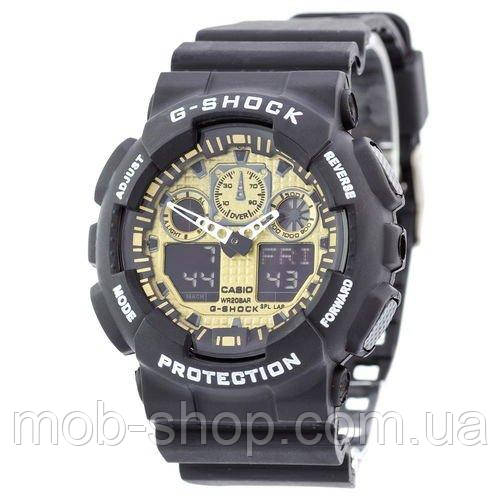 Наручные часы Casio G-Shock GA-100 Black-Gold