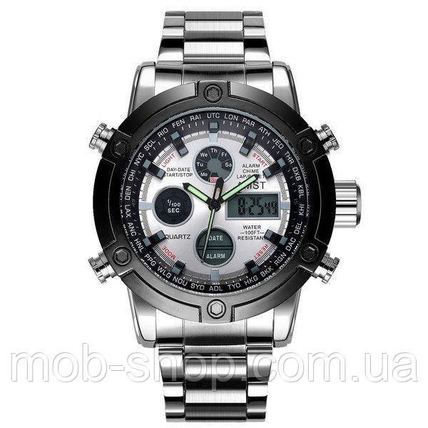 Наручные часы AMST 3022 Metall Silver-Black-Silver