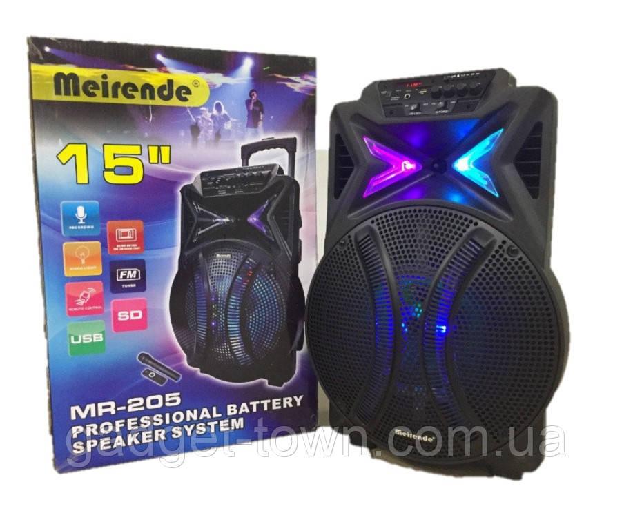 Портативная колонка Meirende MR205 Bluetooth/ микрофон.Комбик с аккумулятором.