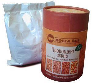 Пророщенные зерна 300 г. в коробке