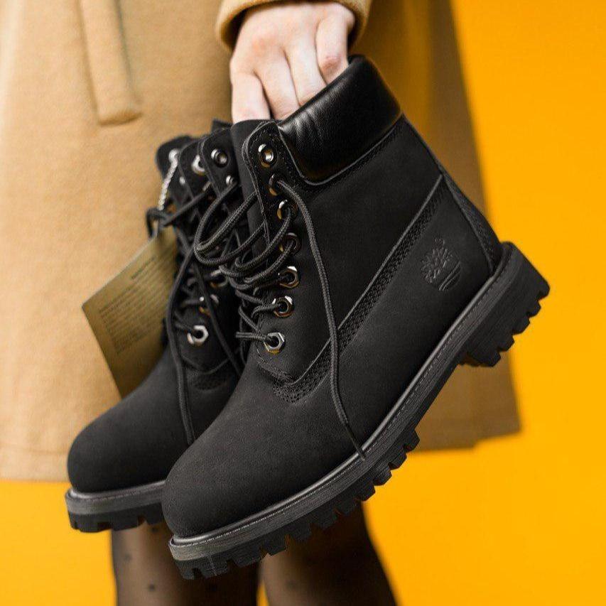 Женские демисезонные ботинки в стиле Timberland Black