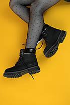 Женские демисезонные ботинки в стиле Timberland Black, фото 3