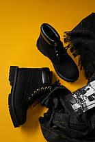 Женские демисезонные ботинки в стиле Timberland Black, фото 2