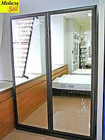Шкаф-кровать трансформер с зеркалами с художественным рисунком, фото 1