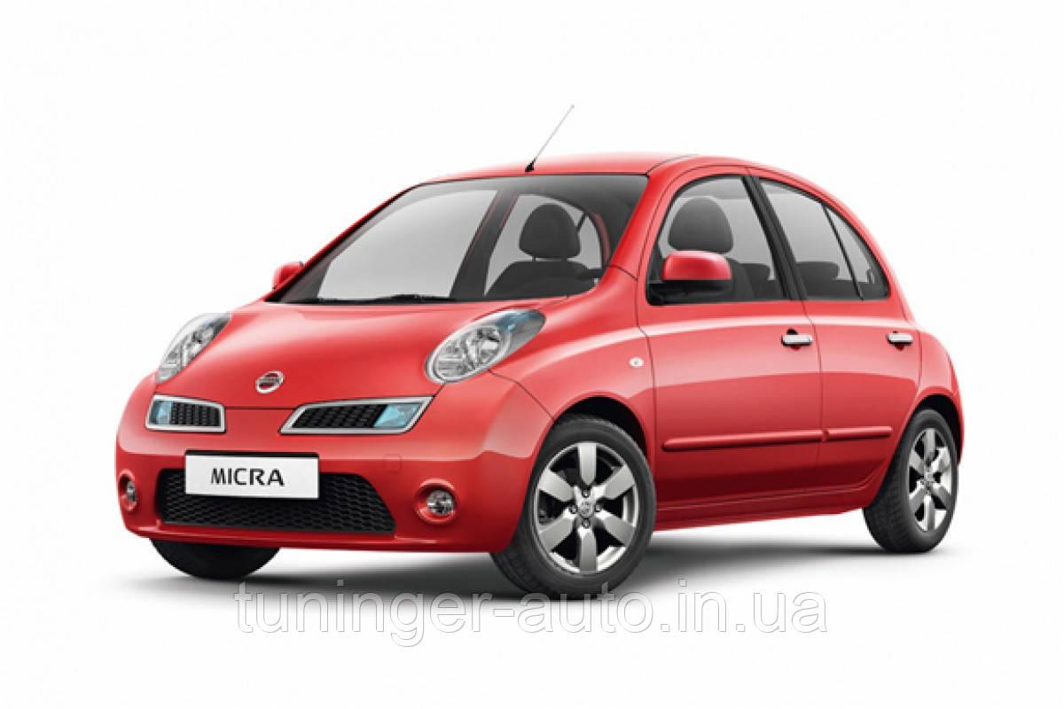 Ветровики, дефлекторы окон Nissan Micra (K12) 2003-2010 (Hic)